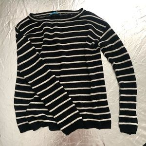 Alice & Olivia sweater. Linen sz XS black white